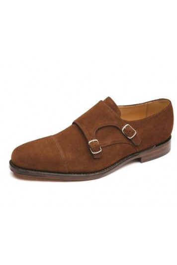 Loake Cannon brown suede shoes