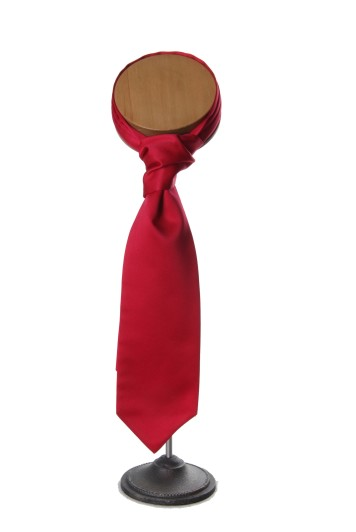 Cardinal red grooms wedding cravat