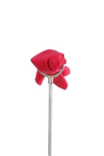 Cardinal red satin Grooms wedding pocket square