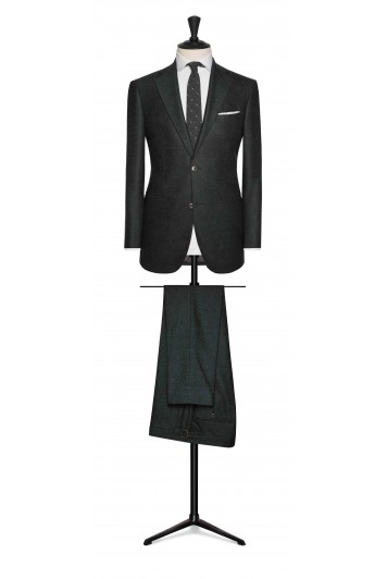 green brushed comfort wool wedding suit