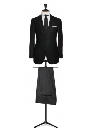 dark green felted herringbone grooms wedding sports jacket