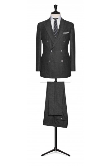 dark grey brushed comfort wool grooms and best mans suit