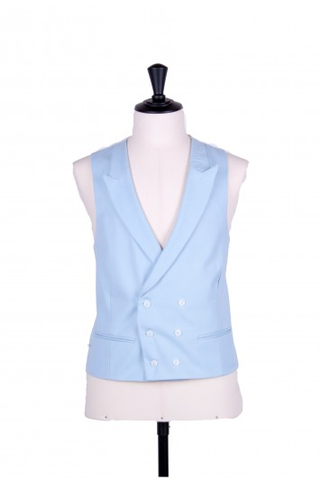 Ascot double breasted blue wedding waistcoat