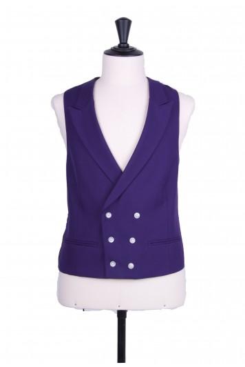 Ascot DB purple Grooms wedding waistcoat