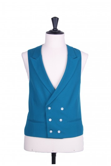 Ascot DB turquoise Grooms wedding waistcoat