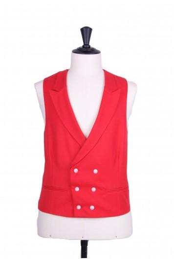 Ascot DB red Grooms wedding waistcoat