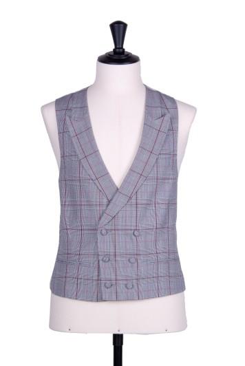 Pink Prince of Wales DB Grooms wedding waistcoat