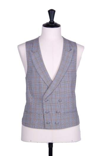 Prince of Wales gold DB classic Grooms wedding waistcoat to purchase