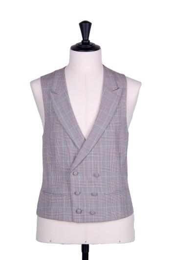 Brown Prince of Wales Grooms DB wedding waistcoat