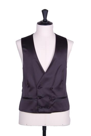 satin black DB waistcoat