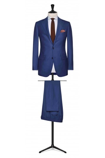Bright Blue twill made to measure suit