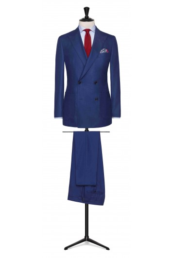 Bright Blue birdseye made to measure suit