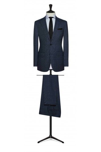 slate blue fine wool glencheck wedding suit