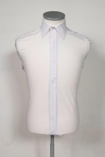 Regular collar slim fit white wedding shirt