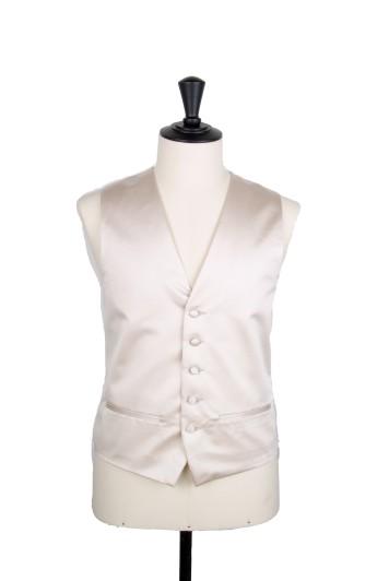 Plain Duchess satin grooms waistcoat