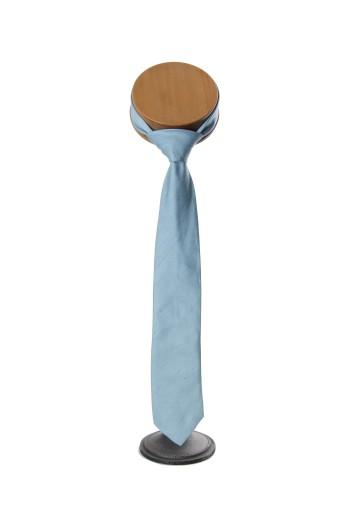 Poly dupion duck egg Grooms wedding tie