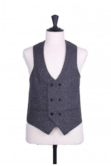 Fleck lambs wool scoop DB waistcoat