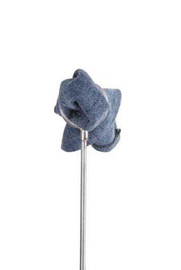Tweed blue navy check Grooms wedding pocket square