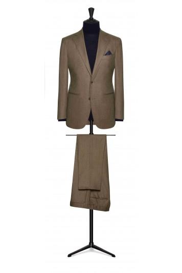 light brown flannel wedding suit