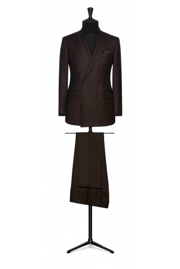dark brown flannel wedding suit