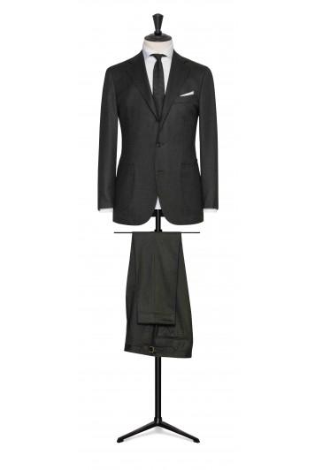 forest green wool twill wedding suit