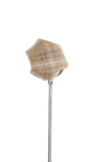Tweed sand check Grooms wedding pocket square