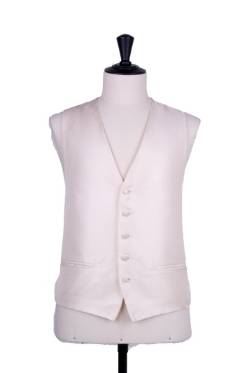 Gold textured wedding waistcoat