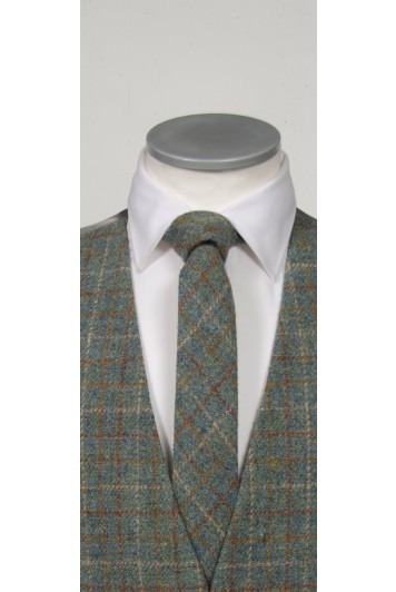Harris Tweed Green  tie