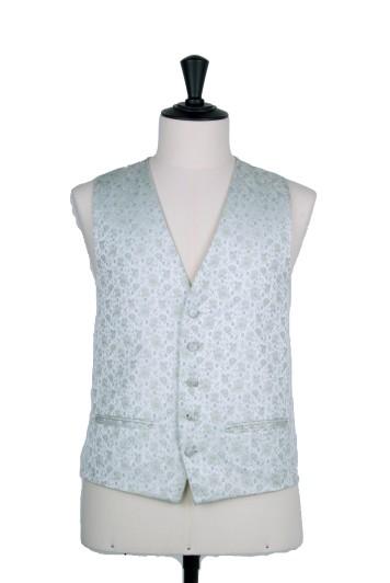 Green Grooms wedding waistcoat floral