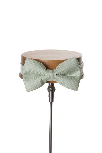 Green textured wedding bow tie