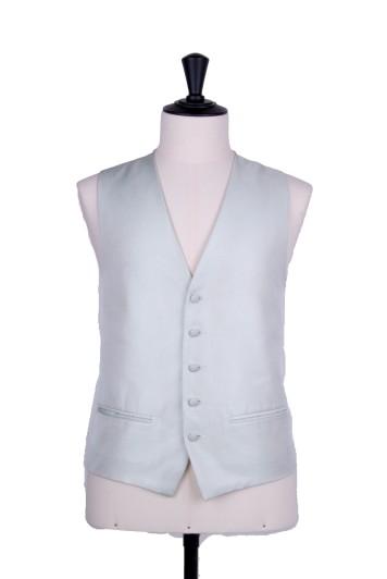 Green Oxford weave wedding waistcoat
