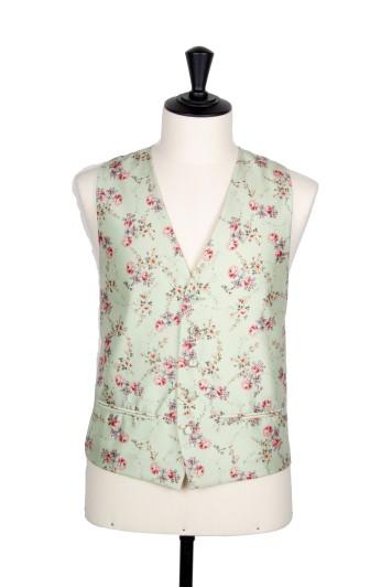 Green floral vinatge Grooms wedding waistcoat