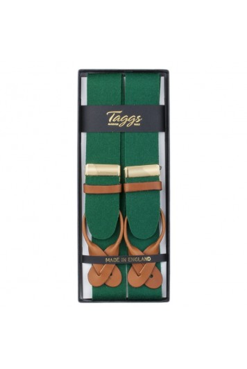 Box cloth green braces