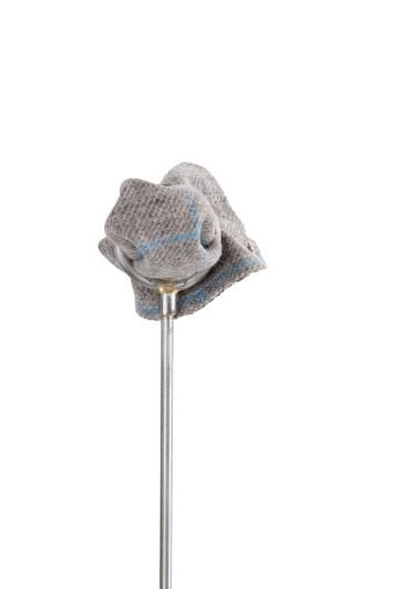 Tweed grey blue check Grooms wedding pocket square