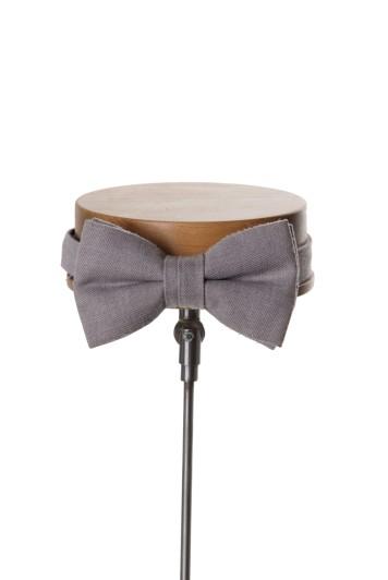 Ascot grey classic wedding bow tie