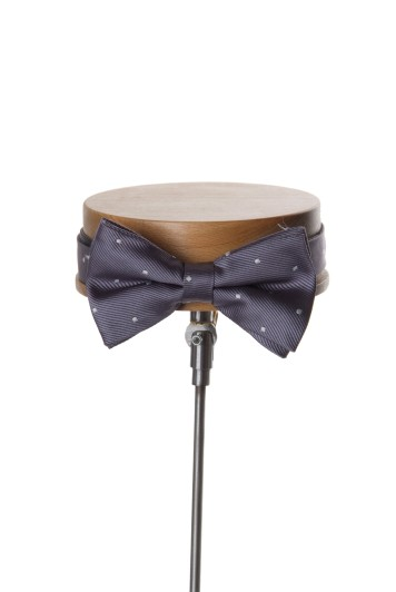 Wedding bow tie grey spot