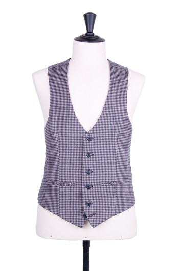 Grooms wedding waistcoat grey checked