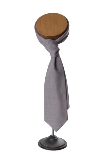 Ascot grey Grooms wedding cravat