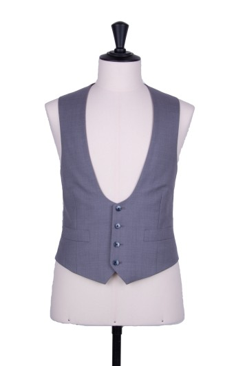 Grey pure wool horseshoe waistcoat made to measure groom wedding