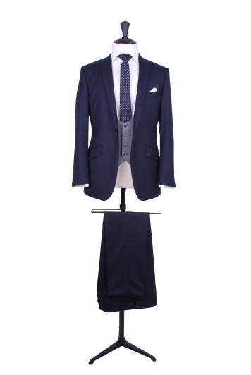 Navy pure wool signature suit made to measure groom