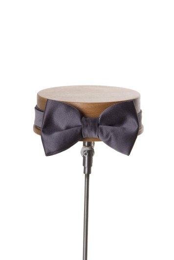 Gunmetal pewter wedding bow tie