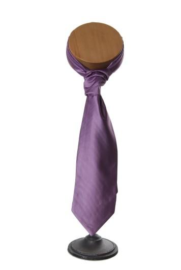 ribbed heather grooms wedding cravat
