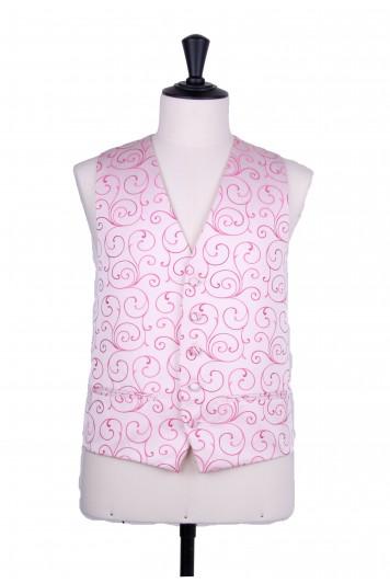 hot pink swirl wedding waistcoat