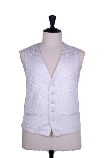 Small floral ivory wedding waistcoat