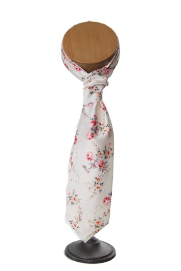 ivory tea rose wedding floral vinatge cravat