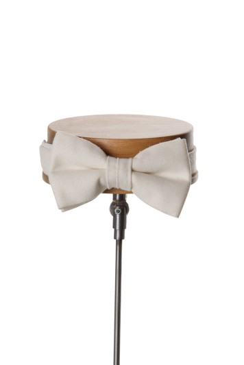 Ascot ivory Grooms wedding bow tie