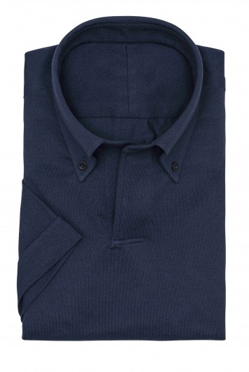 Midnight Blue Piqué short sleeve polo Shirt