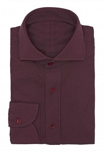 burgundy piqué Shirt
