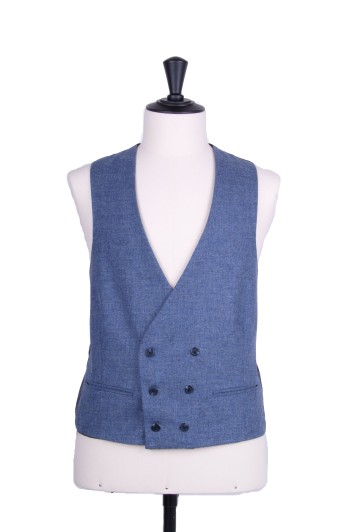 Lambs wool collarless DB waistcoat