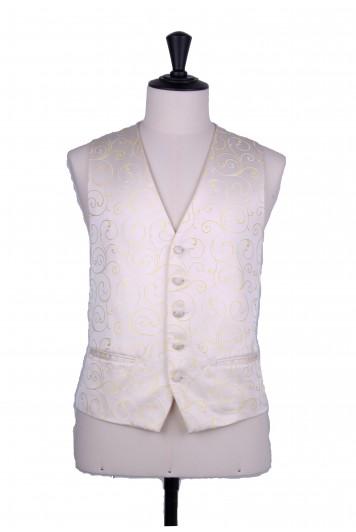 swirl lemon wedding waistcoat